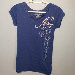 Aeropostale Blue Shirt With Angle Wings
